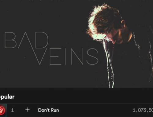"Bad Veins track ""Don't Run"" reaches Spotify milestone."
